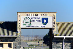 Outside Robben Island prison Stock Photos