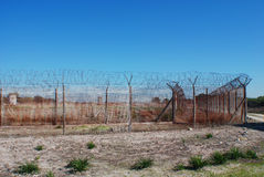 Outside Robben Island prison Stock Photography