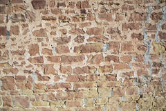 Outside rock wall cement masonry Stock Photography