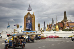 Outside the royal palace in bangkok Stock Photos