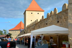 Outside  Rupea (Reps) fortress Royalty Free Stock Photography