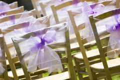 Outside Seating For Wedding Guests Stock Photography