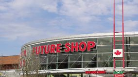Outside shot of Future shop store in Coquitlam BC Canada. stock footage
