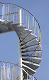 Outside spiral staircase Royalty Free Stock Photography