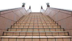 Outside staircase under cloudy sky Royalty Free Stock Photography