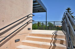 Outside stairs passage. Modern stairs in outside passage Stock Photos
