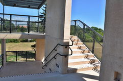Outside stairs passage. Modern stairs in outside passage Stock Photography