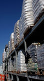 Outside storage. Pallets at a landscaping and contractor nursery Stock Images