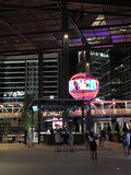 Outside Sun Trust Park. Area just outside of brand new Sun Trust Park, where visitors can shop or get food at the restaurants royalty free stock photography
