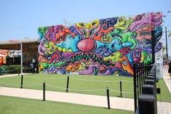 Outside sztuka przy Wnywood ścianami w Miami, Floryda zdjęcie royalty free