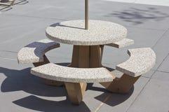 Outside Table Stock Photo