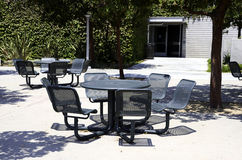 Outside tables and chairs Stock Images