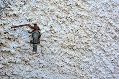 Outside tap. A dripping rusty outside tap Stock Photo