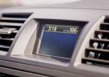 Outside temperature gauge on auto dashboard Stock Photos