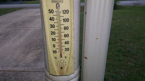 Outside  Temperature. The temperature is warm today Stock Photos