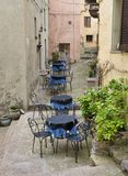 Outside terrace in italy Royalty Free Stock Photo