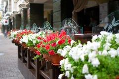 Outside terrace of restaurant Stock Image