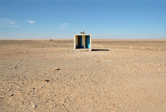 Outside toilet in desert Stock Photos