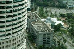 Outside twin towers in Kuala Lumpur, malaysia Stock Photography