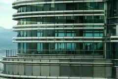 Outside twin towers in Kuala Lumpur, malaysia Royalty Free Stock Image