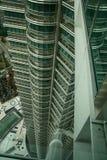Outside twin towers in Kuala Lumpur, malaysia Stock Images