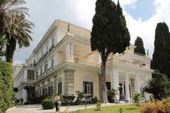 Outside view of Achilleion, Corfu Stock Image