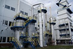 Outside view of air separation plant Stock Images