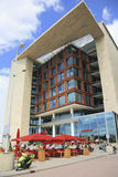 Outside view of Amsterdam Central Library Royalty Free Stock Photo