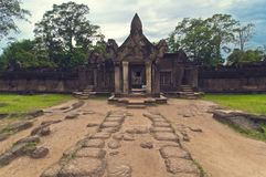 Outside view of  Banteay Srey.Cambodia Royalty Free Stock Images