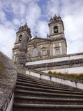 Outside view from Bom Jesus church in Braga north Portugal stock images