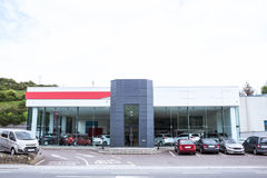 Outside view of car dealership Royalty Free Stock Photo