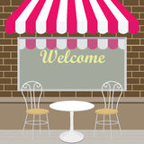 Outside View of The Coffee Shop Royalty Free Stock Images