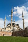 Outside view of Edirne  Selimiye Mosque Royalty Free Stock Photography