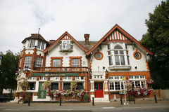 Outside view of a english pub Royalty Free Stock Photo