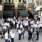 Outside view of a English pub Stock Images
