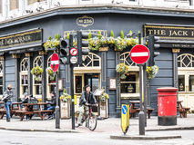 Outside view of The Jack Horner pub in London. Stock Image
