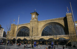 Outside view of King's Cross train station in London Royalty Free Stock Images