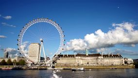 Outside view of London Eye stock video