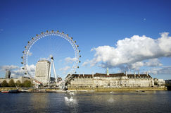 Outside view of London Eye Stock Images