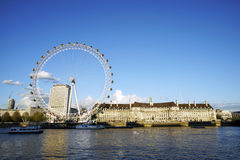 Outside view of London Eye Royalty Free Stock Photography