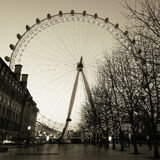 Outside view of London Eye, Night Royalty Free Stock Images