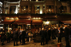 Outside view of London Pub Stock Photos