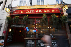 Outside view of London Pub Stock Image