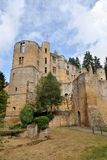 Beaufort Castle, Luxembourg. Outside view of the medieval Beaufort Castle in Beaufort, Luxembourg Royalty Free Stock Photos