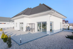 Outside view of modern house Royalty Free Stock Photo