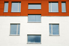 Unique Apartment Building Windows Architecture Royalty Free Stock Photo