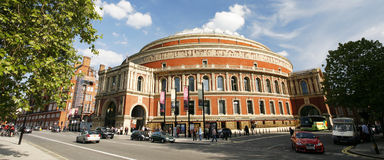 Outside view of Royal Albert Hall on sunny day Royalty Free Stock Photos