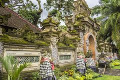 Outside view of the Royal palace, Ubud, Bali, Indonesia royalty free stock images