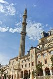Outside view of Selimiye Mosque Built between 1569 and 1575 in city of Edirne, Turkey royalty free stock images