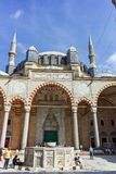 Outside view of Selimiye Mosque Built between 1569 and 1575 in city of Edirne, Turkey stock photo